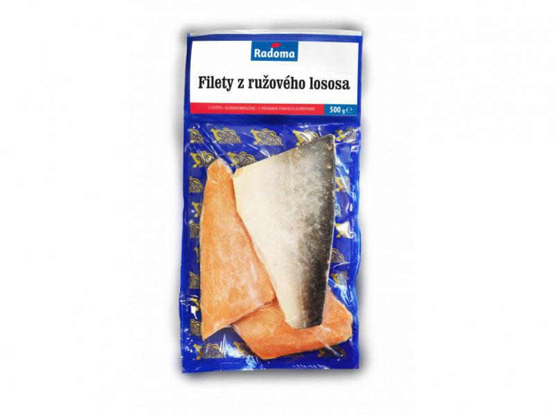 Filety z ružového lososa s kožou, glazúra 15%, 500g, VB
