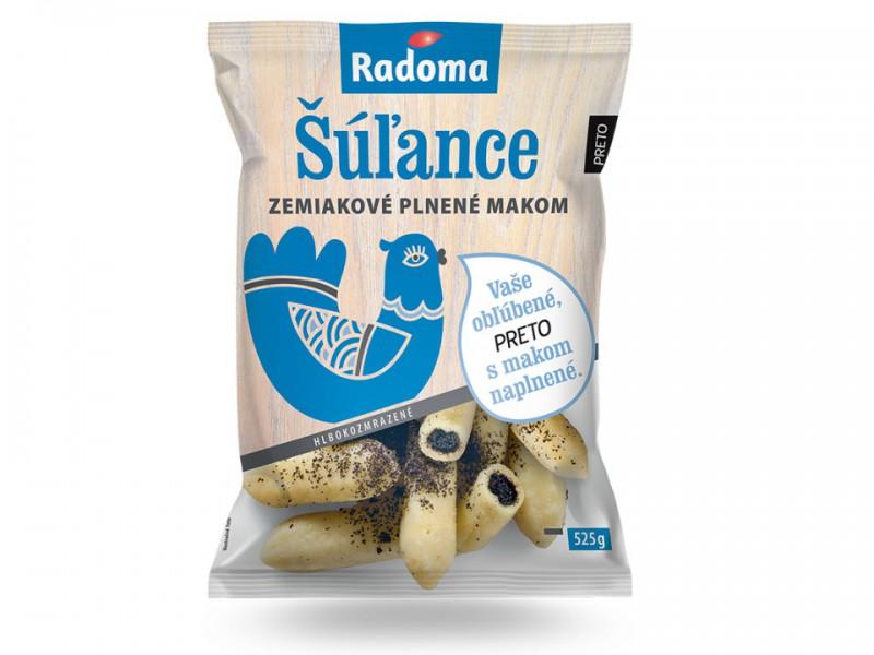Šúľance zemiakové plnené makom 525 g