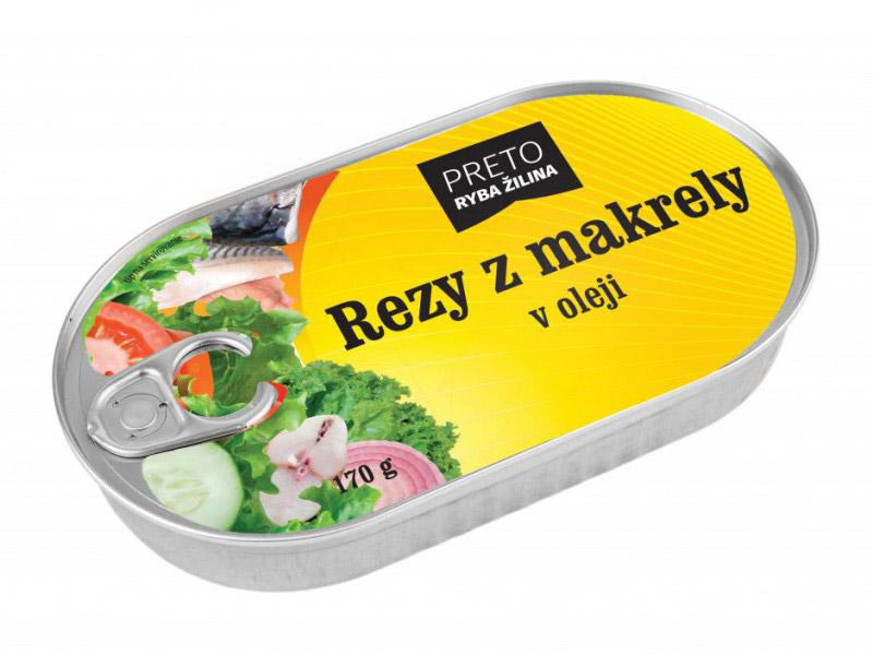 Rezy z makrely v oleji