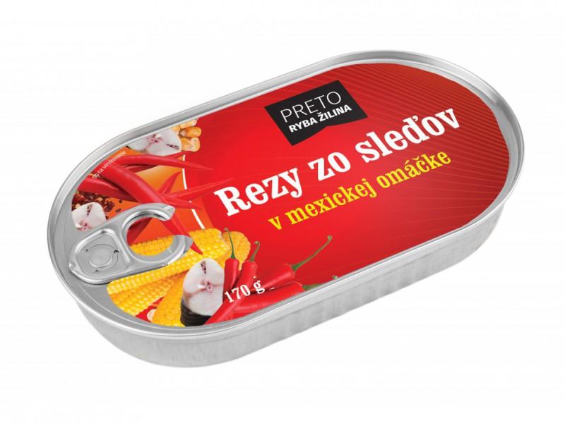 Rezy zo sleďov v mexickej omáčke