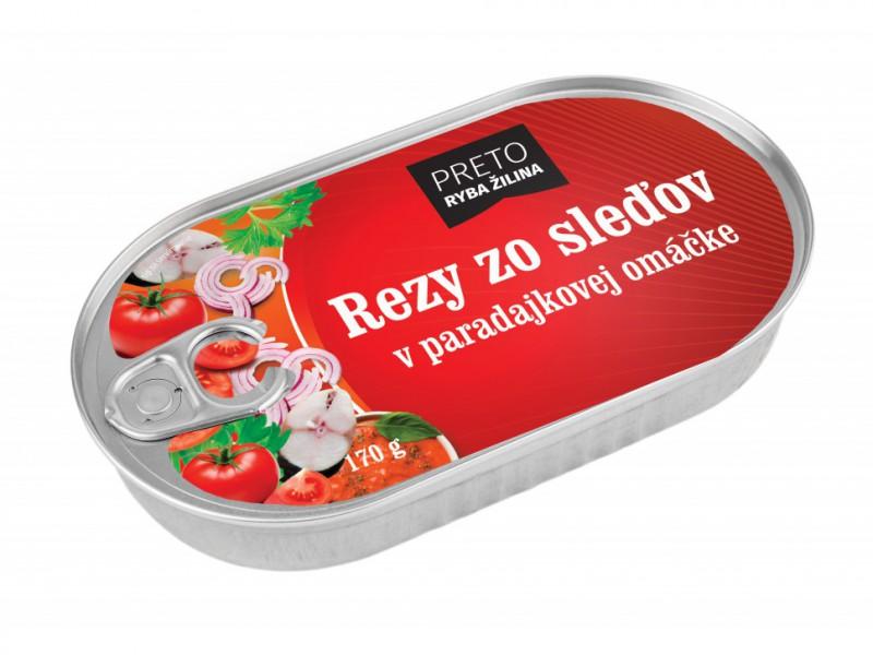 Rezy zo sleďov v paradajkovej omáčke