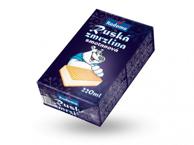 Ruská zmrzlina smotanová 220 ml