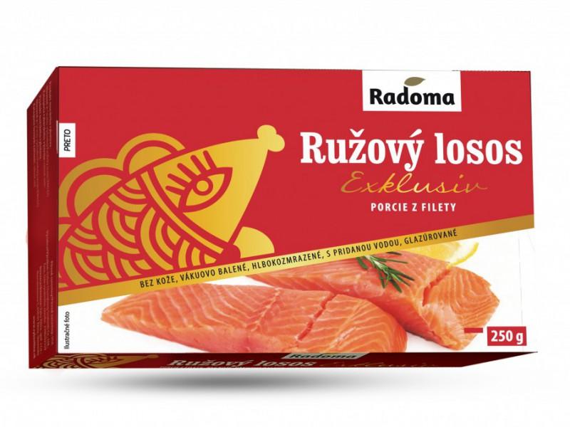 Ružový losos porcie Exklusiv