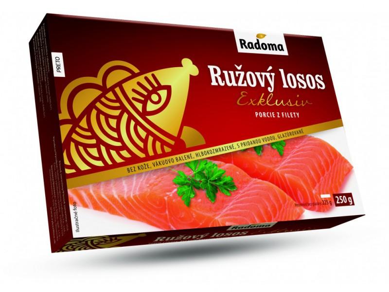 Ružový losos porcie Exklusiv, bez kože, 250 g