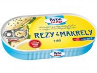 Rezy z makrely v oleji, 170 g