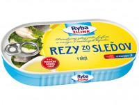 Rezy zo sleďov v oleji, 170 g