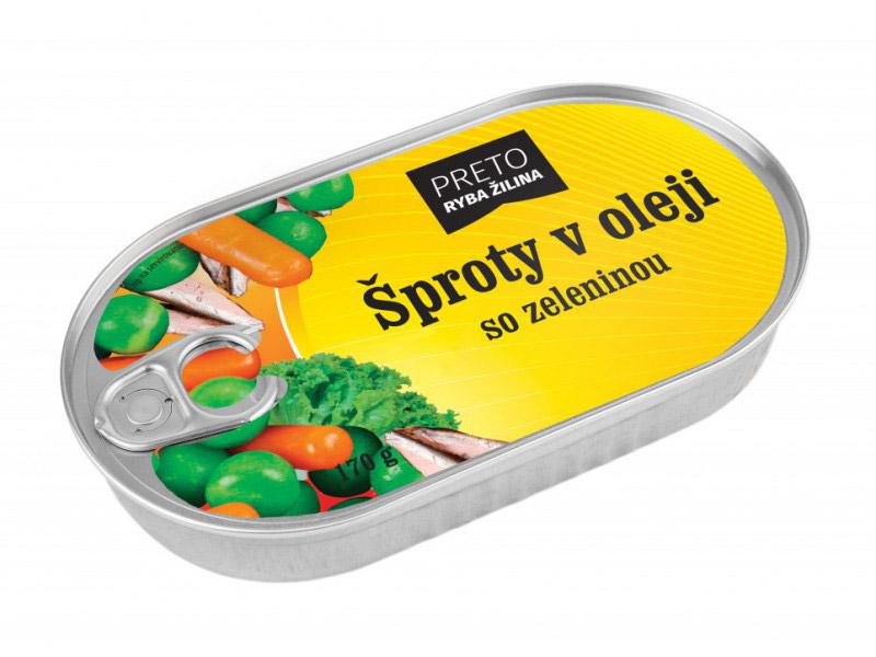 Šproty v oleji so zeleninou