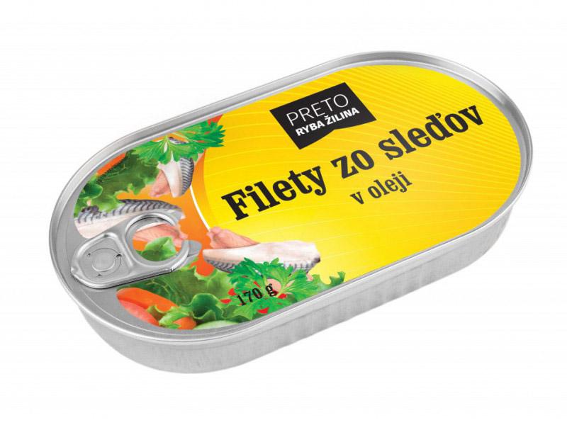 Filety zo sleďov v oleji