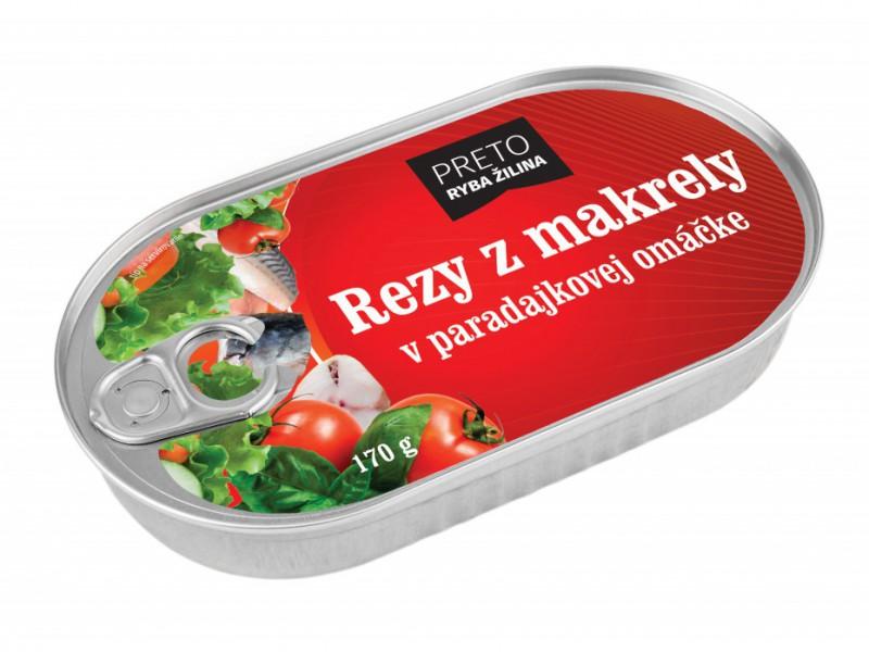 Rezy z makrely v paradajkovej omáčke